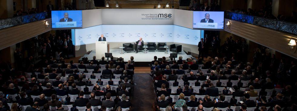 Israels Ministerpräsident Benjamin Netanjahu bei seiner Rede bei der Münchner Sicherheitskonferenz 2018