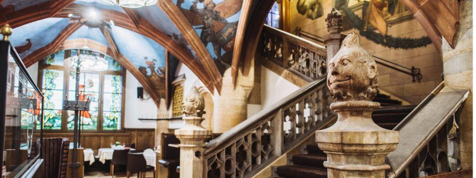Die Treppe in der Arche Noah des Ratskellers