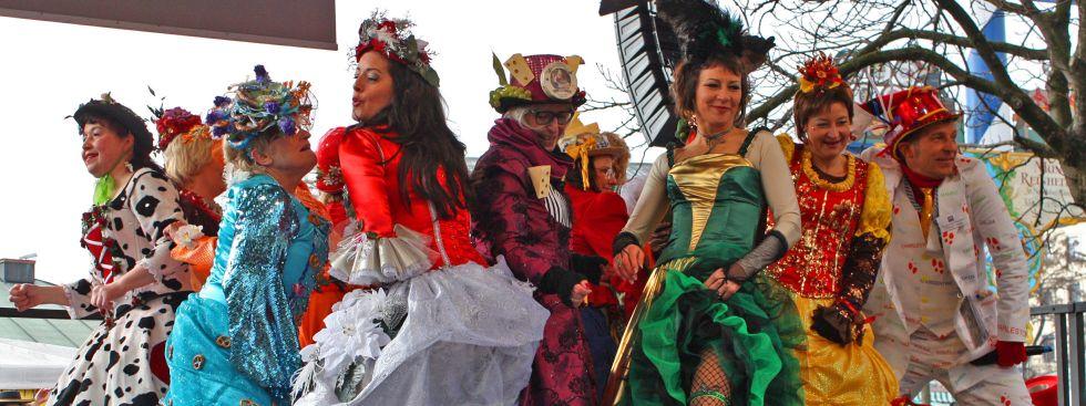 Tanz der Marktweiber auf dem Viktualienmarkt