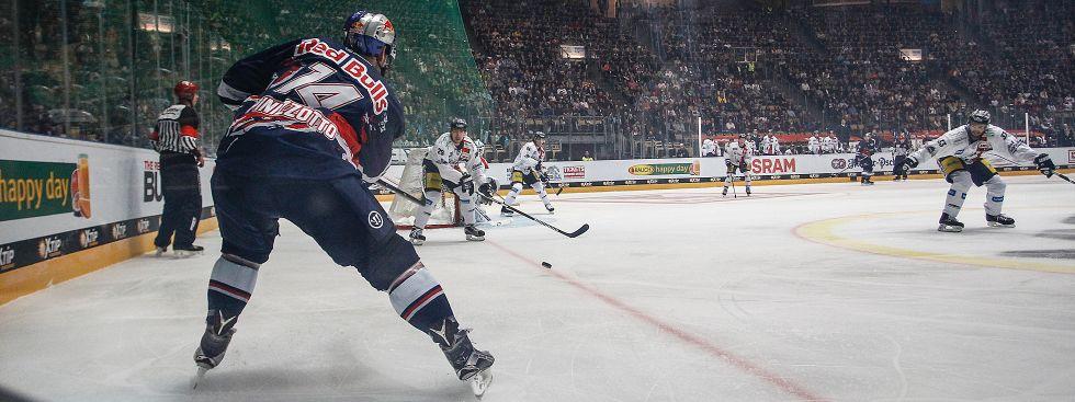 Der EHC Red Bull München gegen die Eisbären Berlin in der Olympiahalle