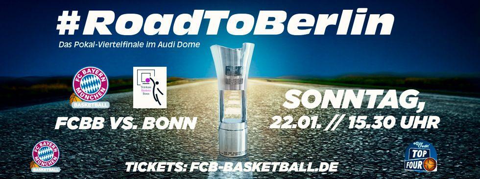 Road to Berlin FCB Basketball vs. Baskets Bonn Audi Dome Munich