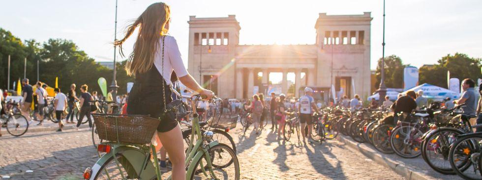Die Radlnacht startet am Königsplatz