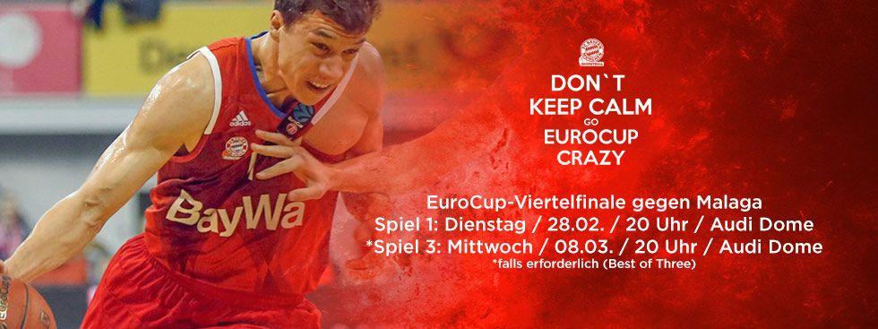 FC Bayern Basketball gegen Malaga