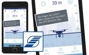 Sicherer Drohnenflug mit der DFS-DrohnenApp, Foto: Deutsche Flugsicherung
