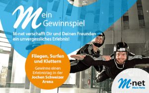 Gewinnspiel mit Jochen Schweizer und M-net, Foto: M-net