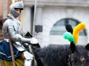 Ritter auf dem Mittelaltermarkt