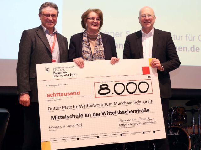 Impressionen zur Verleihung des Münchner Schulpreises 2016., Foto: Michael Nagy/Presseamt München