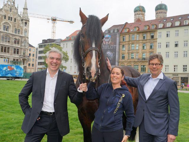 Peter Massine, Apassionata Reiterin Daphne de Visser, Thomas Freiherr von Stenglin, Foto: muenchen.de/Vauelle