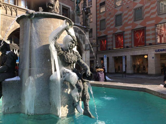 Der Fischbrunnen am Marienplatz