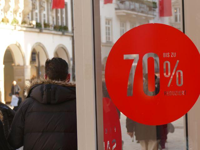 Satte Prozente beim Winterschlussverkauf , Foto: muenchen.de/Lukas Fleischmann