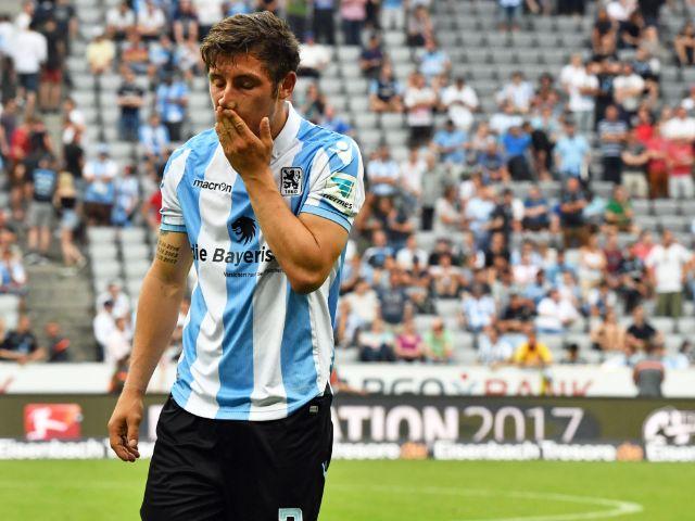 1860-Spieler Maxi Wittek geschockt nach Abstieg in 3. Liga, Foto: dpa