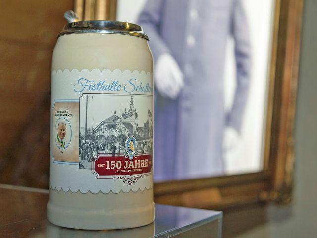 Festkrug 150 Jahre Schottenhamel auf dem Oktoberfest, Foto: Münchner Gaststätten GmbH
