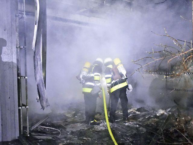 Brand im Bertolt-Brecht-Gymnasium, Foto: Berufsfeuerwehr München