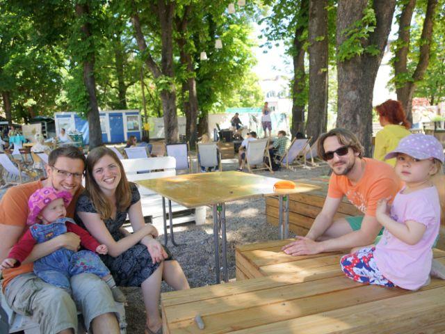 Familie bei Grünspitz, Foto: muenchen.de/ Vauelle