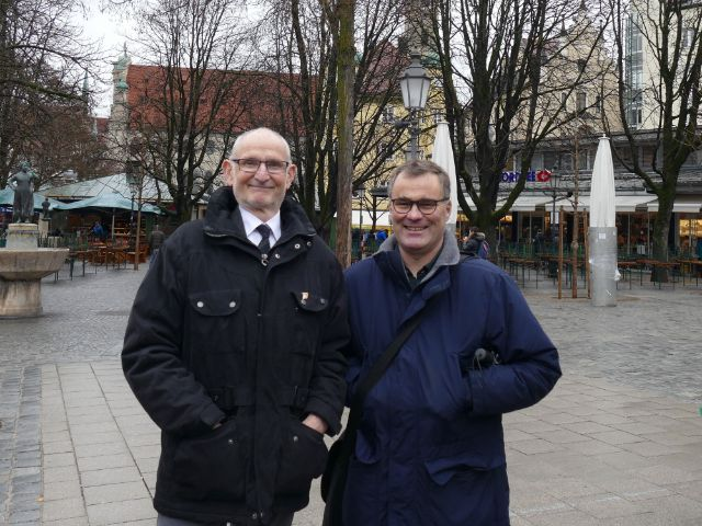 Kommunalreferent Axel Markwardt und Boris Schwartz, 2. Werkleiter der Markthallen München