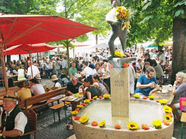 Brunnenfest auf dem Viktualienmarkt, Foto: muenchen.de/Dan Vauelle