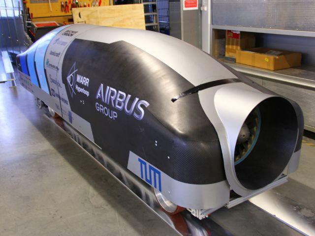 Der Hyperloop Pod der Studierendengruppe WARR, Foto: WARR Hyperloop Team