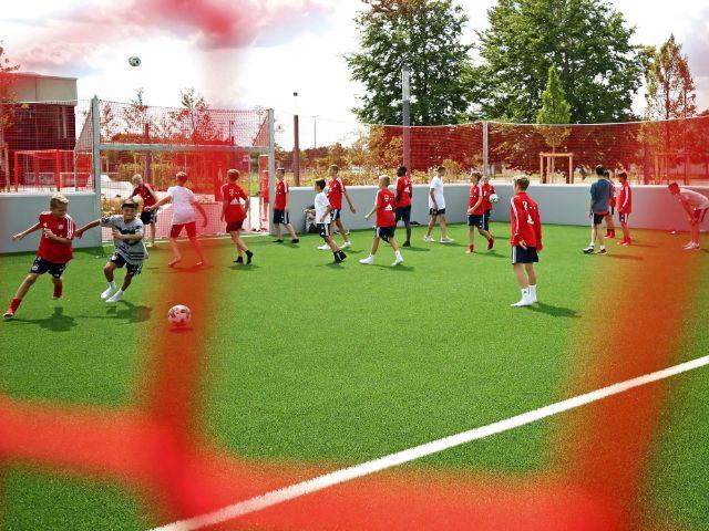 Der neue FC Bayern Campus an der Ingolstädter Straße, Foto: Michael Nagy/Presseamt München