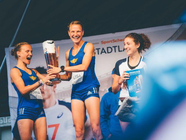 Siegerehrung beim Stadtlauf München 2017, Foto: Sportcheck