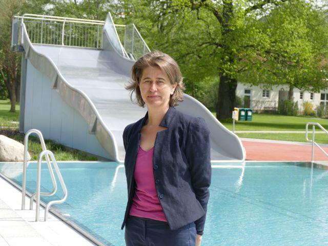Die Chefin der M-Bäder Christine Kugler.