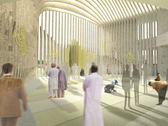 Entwurf für das neue Islam-Zentrum in München., Foto: Jasarevic Architekten