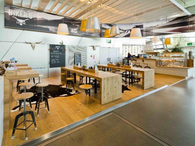 Die Biker's Lodge in der BMW Welt, Foto: BMW
