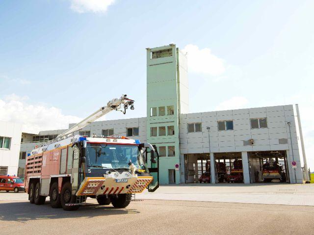 Feuerwehrauto am Flughafen München, Foto: Flughafen Besucherpark
