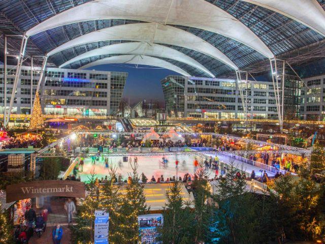 Wintermarkt am Flughafen München, Foto: Flughafen Besucherpark
