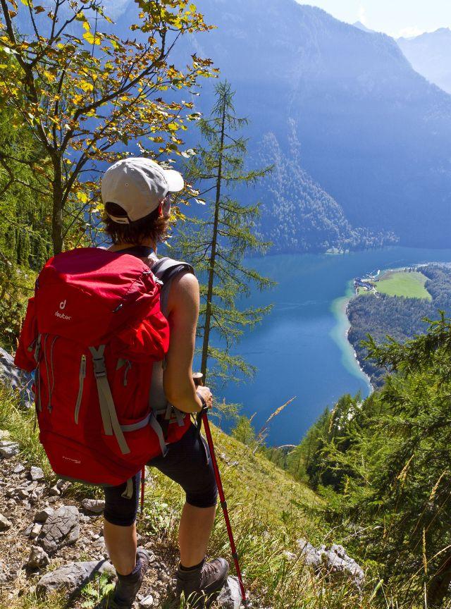 Blick auf den Königssee vom Einstieg in den Rinnkendlsteig