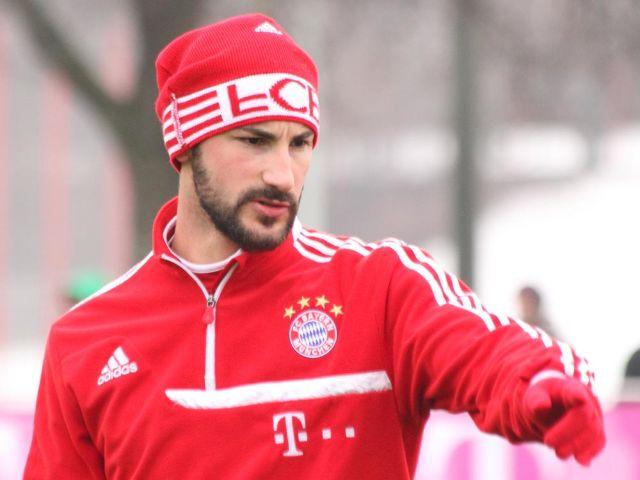 Diego Contento beim Training des FC Bayern München, Foto: Immanuel Rahman