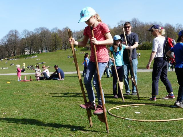 Kinder beim Spielen im Münchner Westpark., Foto: Maria Romanska