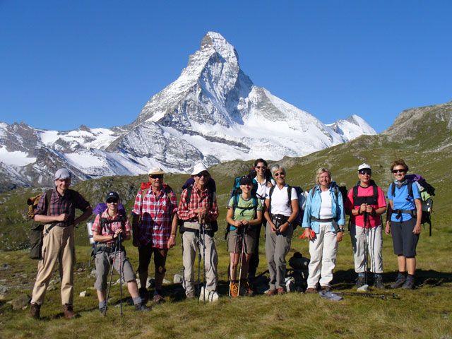 Gruppe des DAV beim Wandern