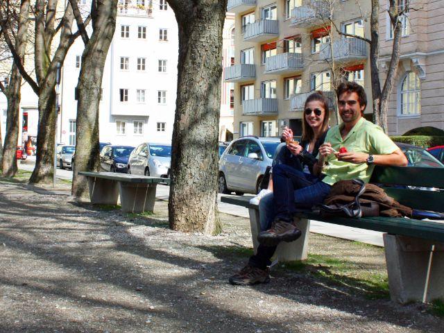 Besondere Orte zum Sonnen in München: Habsburger Platz