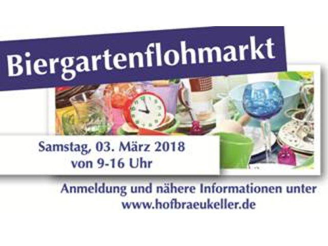 Biergartenflohmarkt im Hofbräukeller, Foto: Fotolia