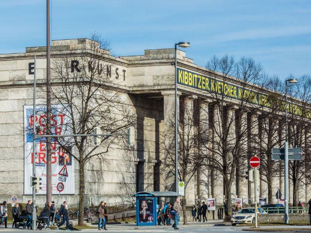 Haus der Kunst im Winter ohne Schnee, Foto: muenchen.de/Michael Hofmann