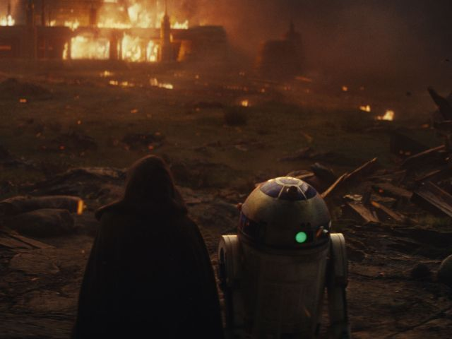 "Szene aus dem Film ""Star Wars: Die letzten Jedi"", Foto: 2017 Lucasfilm Ltd."