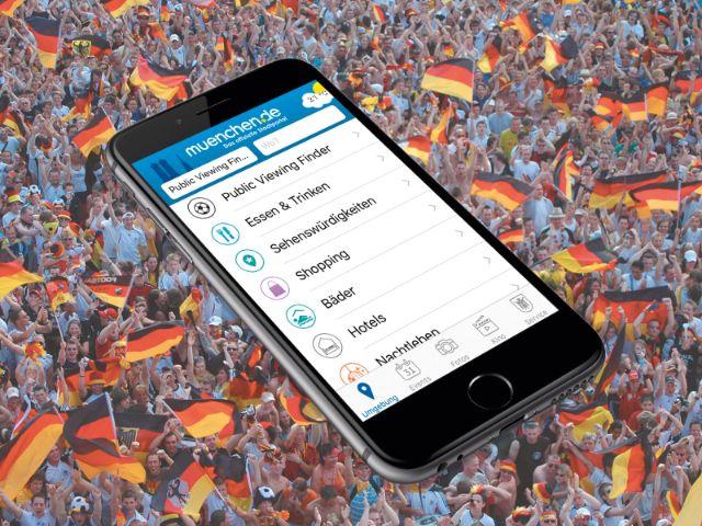 Public Viewing Finder in der München App von muenchen.de