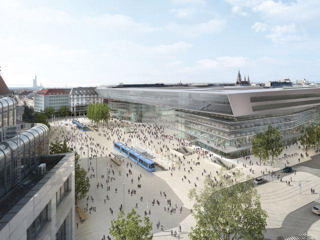 Visualisierung des neuen Hauptbahnhofs München, Foto: Deutsche Bahn AG