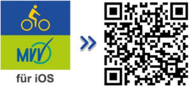 QR-Code für die iPhone-App des MVV-Radroutenplaners