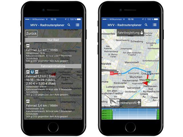 Der MVV Radroutenplaner