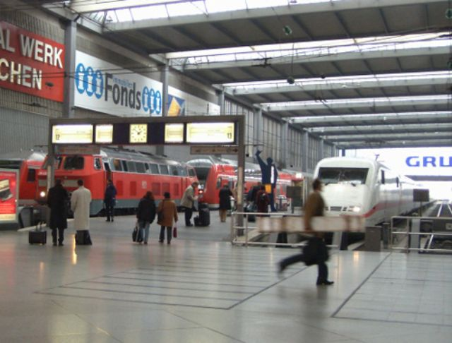 Munich's Train Station is well connected to public transport