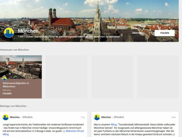 Google Plus von muenchen.de
