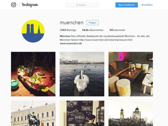 Instagram-Account von muenchen.de