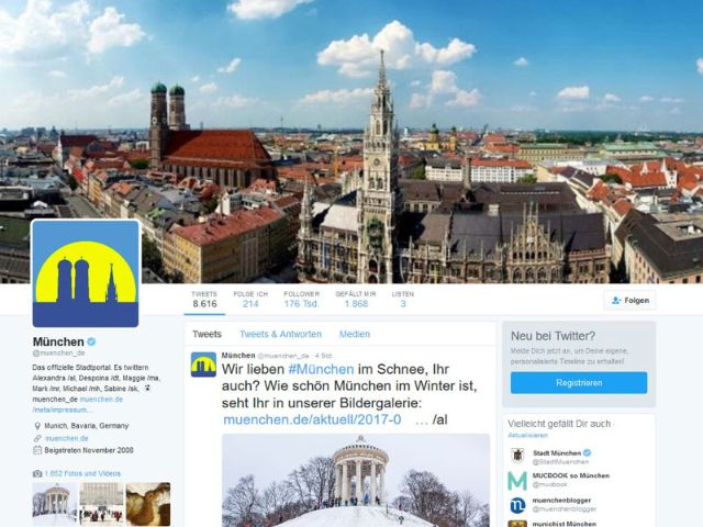 Twitter-Account von muenchen.de