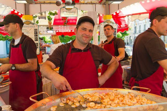 Hamburger Fischmarkt auf dem Wittelsbacher Platz