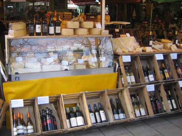 Wein und Käse am Viktualienmarkt