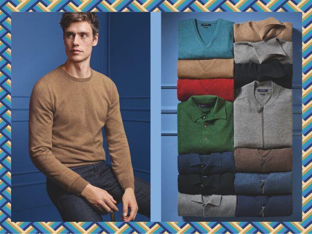 Cashmere-Mode für Herren bei Konen, Foto: Konen