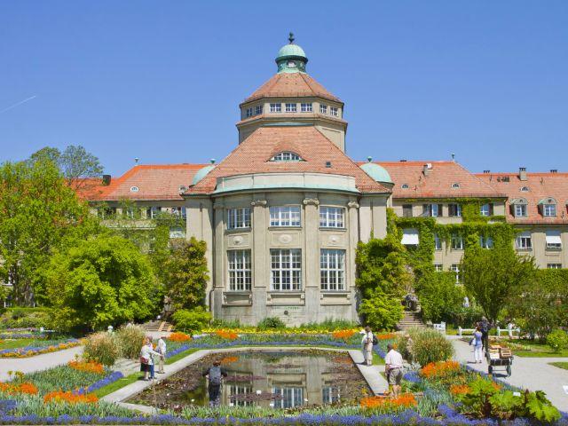 Botanischer Garten in der Sonne
