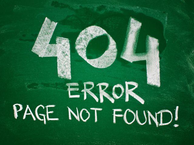 404 Fehler mit Kreide auf Tafel, Foto: igor.stevanovic / Shutterstock.com
