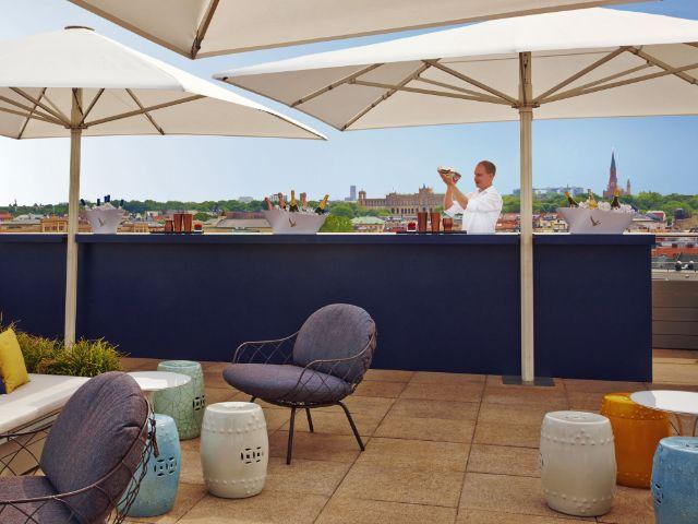 Dachterrasse des Hotels Mandarin Oriental, Foto: Moritz Hoffmann